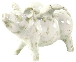 Small Ceramic Flying Pig, 18.5cm