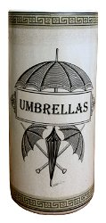 Ceramic Umbrella Stand, Monochrome Umbrella Print
