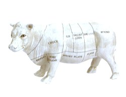 Ceramic Cow Ornament, 29cm