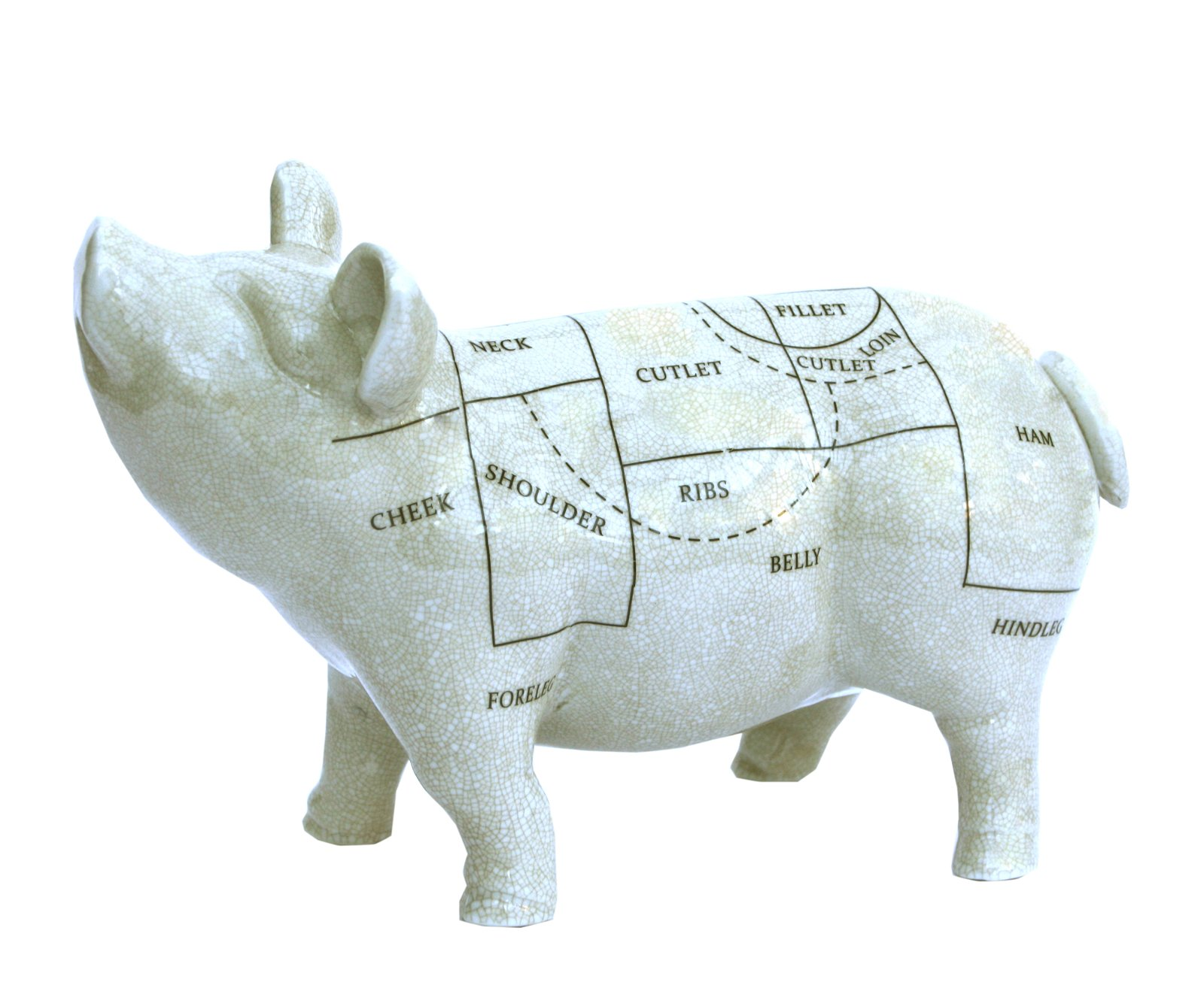 Ceramic Pig Ornament, 32cm