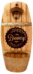 Wall Hanging Brewery Barrel Bottle Opener