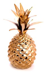Gold Metal Pineapple Ornament 22cm