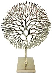 Silver Coral Sculpture