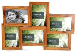 Wooden Six Photo Frame Large 48cm