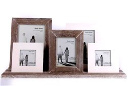 Wooden Rustic Frames On Tray 48cm