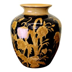 Ceramic Embossed Vase, Regal Design 25cm