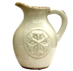 White Embossed Jug