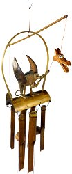 Wooden Dragon Wind Chime
