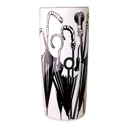 Umbrella Stand, Black & White Umbrella Design