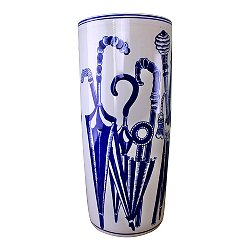 Umbrella Stand, Vintage Blue & White Umbrellas Design