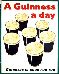 Vintage Metal Sign - Retro Advertising - Guiness