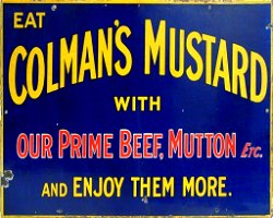 Vintage Metal Sign - Retro Advertising - Colmans Mustard