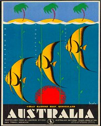 Vintage Metal Sign - Retro Advertising - Australia Fish
