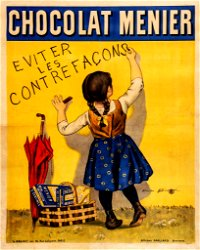 Vintage Metal Sign - Retro Advertising - Chocolate Menier