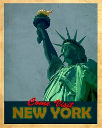 Vintage Metal Sign - Retro Advertising - New York