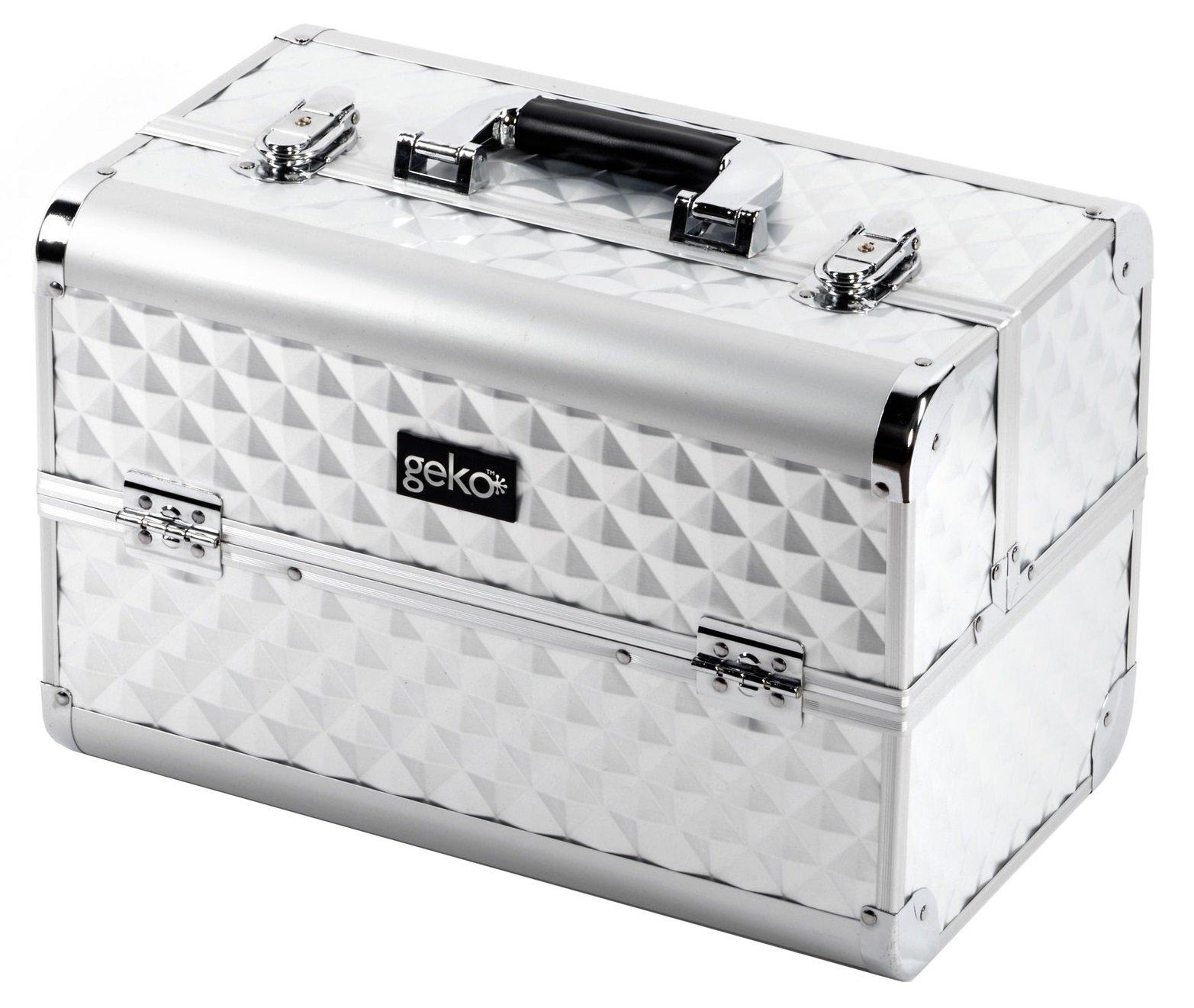 Vanity Case Makeup Box Heavy Duty Silver