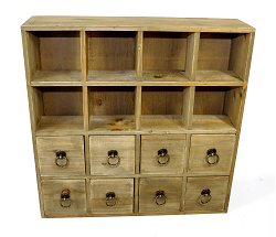 Multidrawer Storage Unit Ring Handle 51x13x51cm