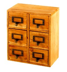 Storage Drawers (6 drawers) 23 x 15 x 27cm