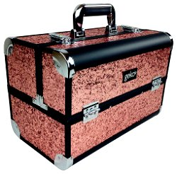 Vanity Case Heavy Duty Rose Gold Glitter