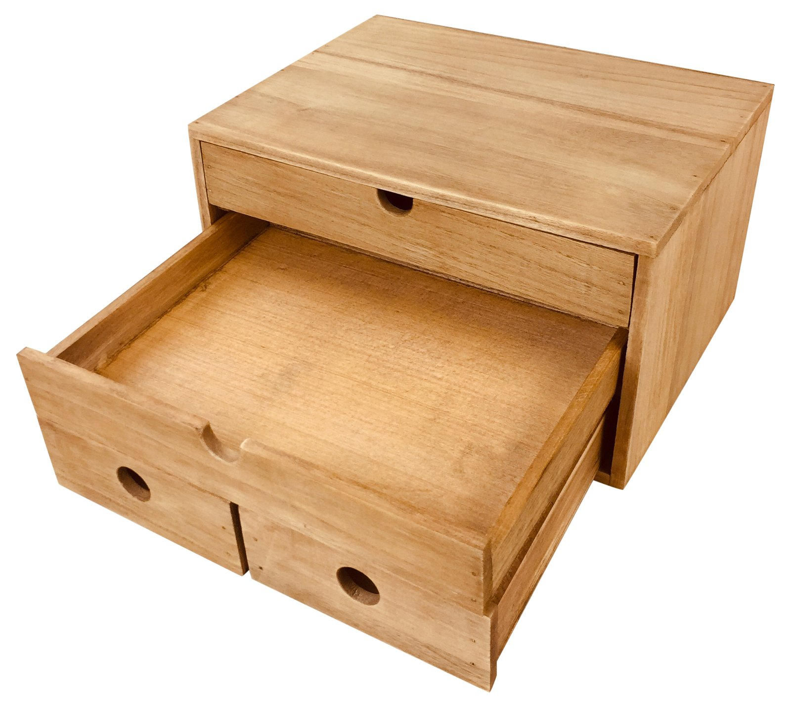 Rustic Solid Wood Storage Organizer 33cm