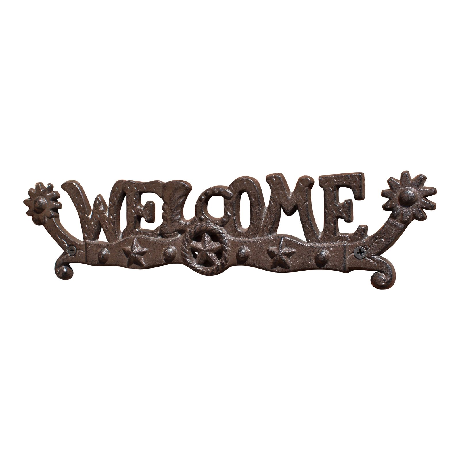 Rustic Cast Iron Decorative Welcome Sign