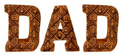 Hand Carved Wooden Geometric Letters Dad