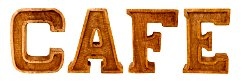 Hand Carved Wooden Embossed Letters Cafe