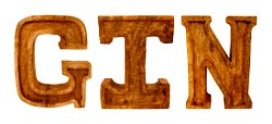 Hand Carved Wooden Embossed Letters Gin