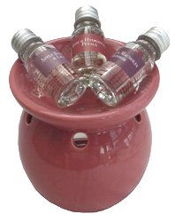 Oil Burner And 3 Assorted Oils - Pink