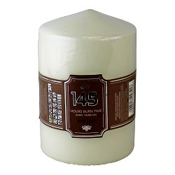 Cream Pillar Candle, 145hr Burn Time