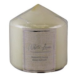 White Linen Fragranced Pillar Candle
