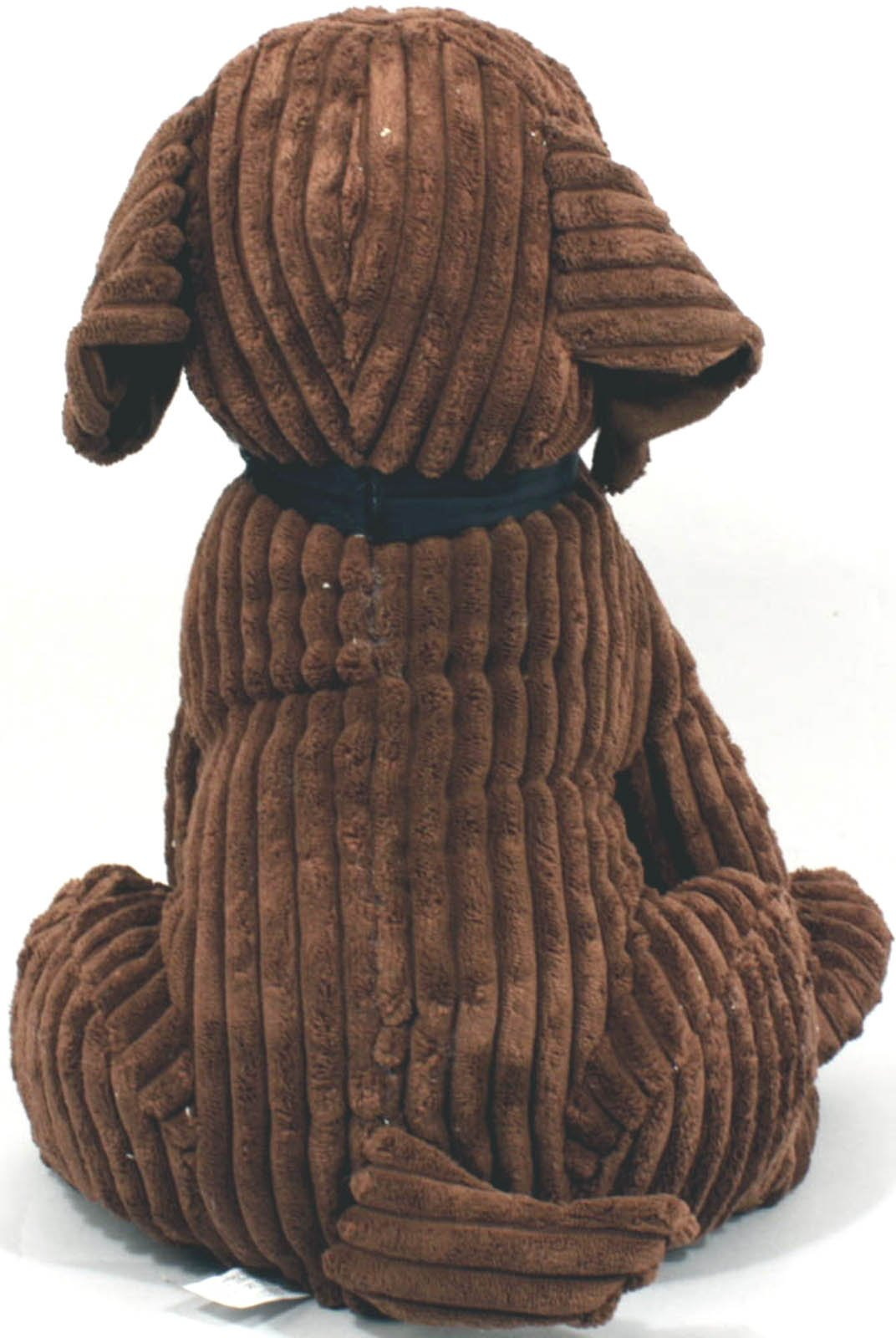 Large Chocolate Ribbed Dog Doorstop