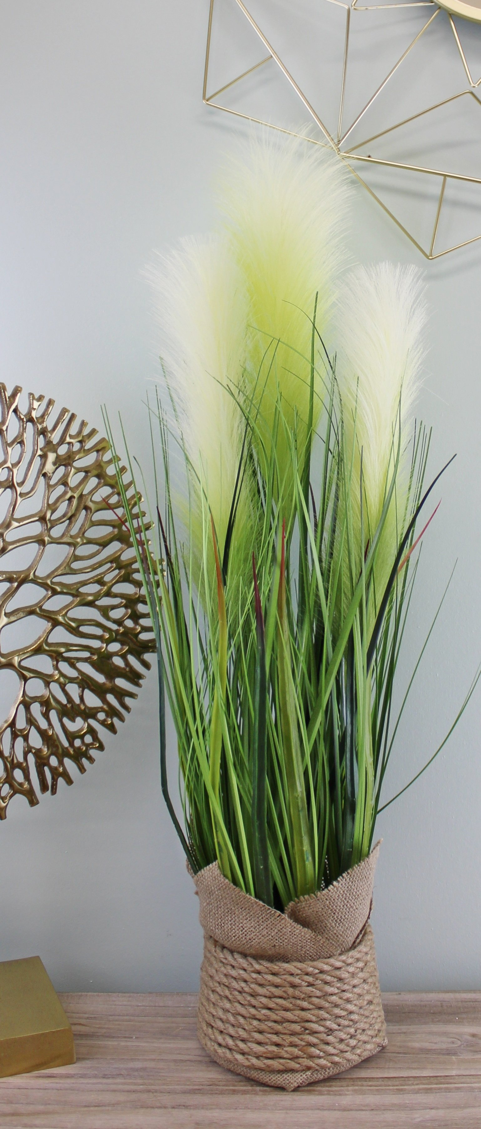 Faux Pampas Grass Display, 65cm