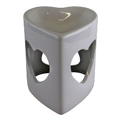 Heart Shaped White Ceramic Oil Burner