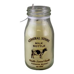 Vanilla Scented Milk Bottle Candle