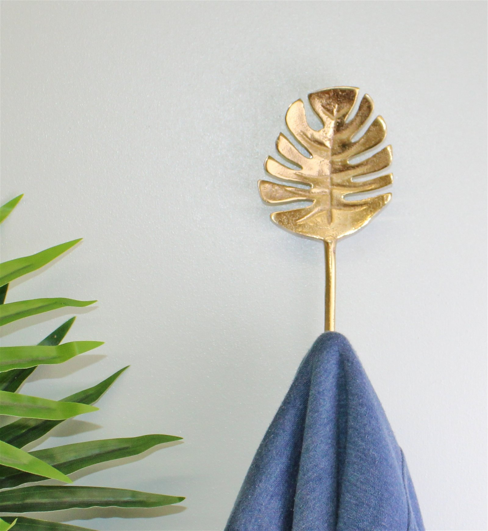 Gold Metal Palm Leaf Coat Hook