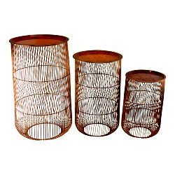 Set of 3 Kasbah Wire Tables, Design B