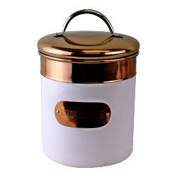 Biscuit Tin, Copper & White Metal Design