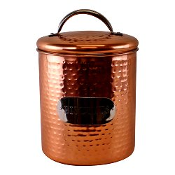 Hammered Copper Biscuit Tin, 17x14cm