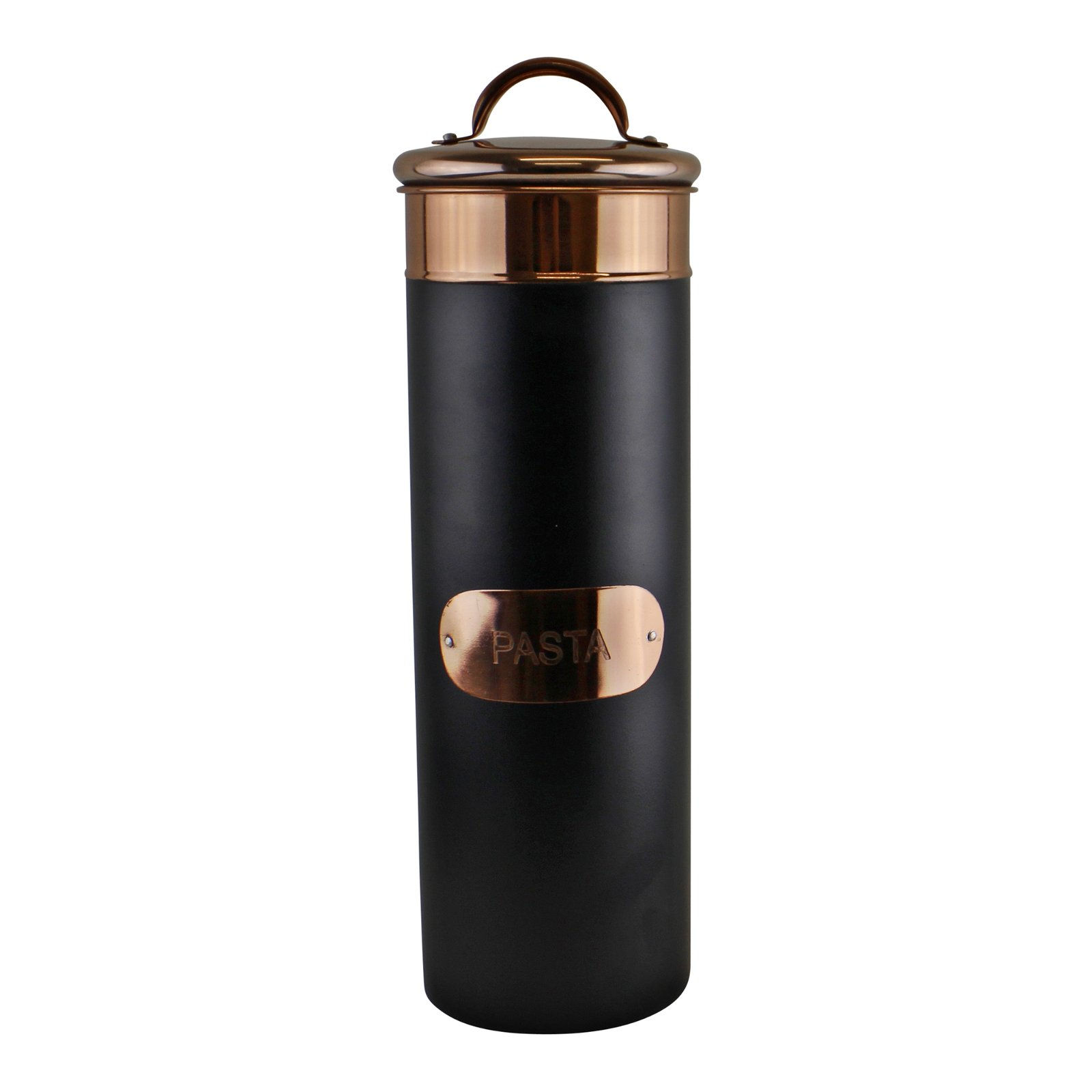 Black & Copper Metal Pasta Tin