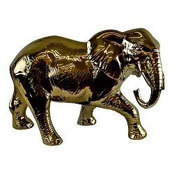 Large Golden Elephant Ornament 34cm