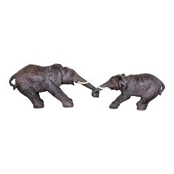 Elephants Holding Trunks Ornament