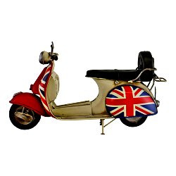 Vintage Style Union Jack Scooter Ornament