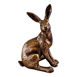Gold Resin Sitting Rabbit Ornament