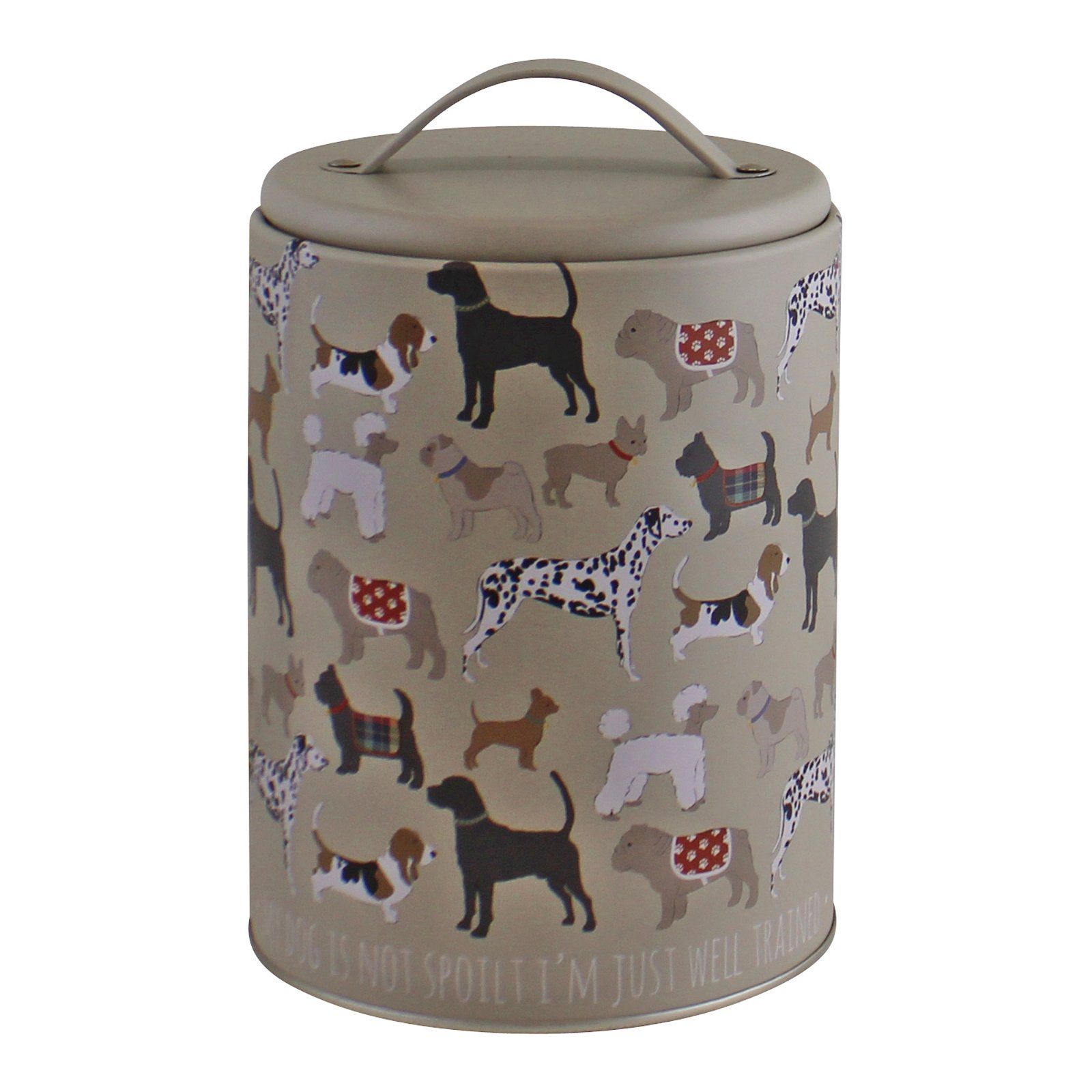 Dog Print Storage Tin, 16.5cm
