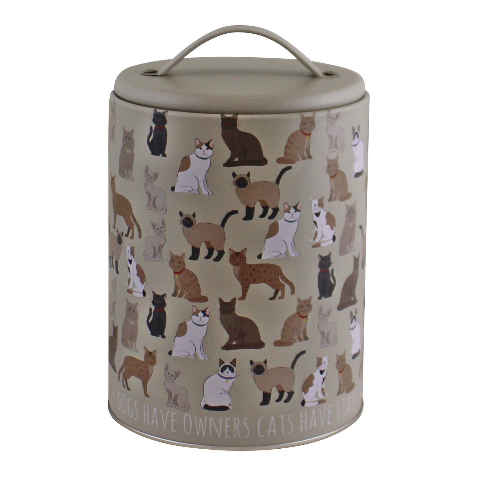 Cat Print Storage Tin, 16.5cm