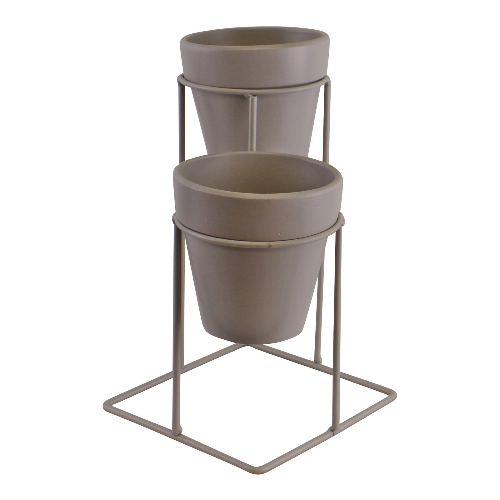 Potting Shed Small Double Planter On Stand, Grey