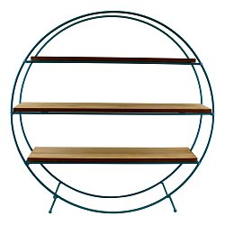 Teal Standing Wire Shelf Unit
