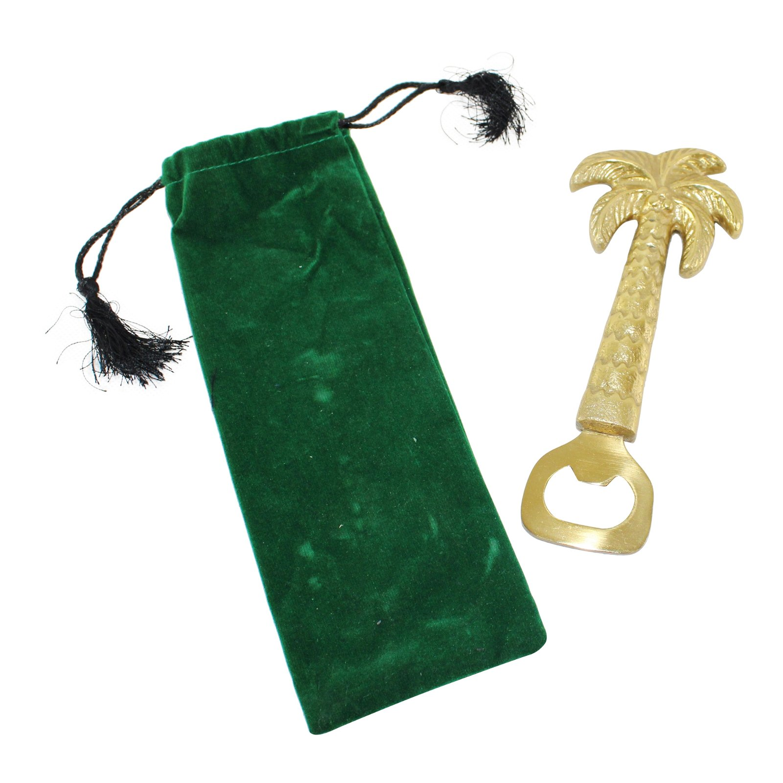 Gold Metal Palm Tree Bottle Opener