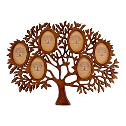 Wooden Multi Photo Frame, Tree Of Life Design
